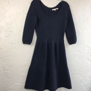 Boden Hannah Cotton Wool Sweater Dress Navy